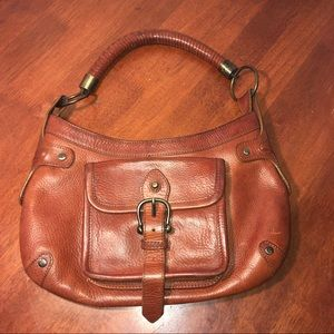 Burberry Prorsum Vintage Brown Thick Leather Bag